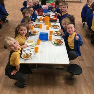 Lunch in the new hall
