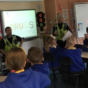 A visit from our PCSO's - Jill and Keith