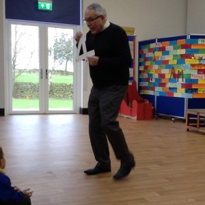 Mr Kaye Story Telling with Paper strips